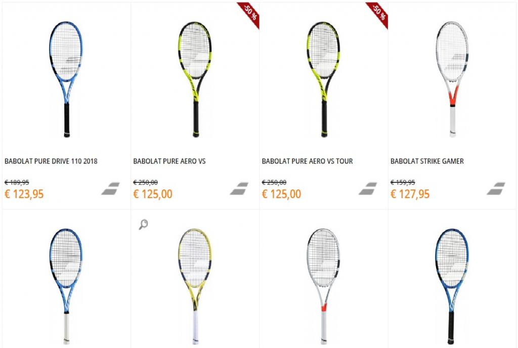 Babolat rackets aanbiedingen
