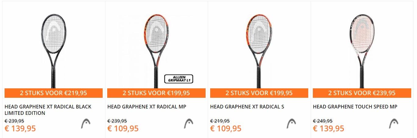 Head tennisrackets